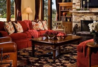 美式乡村风格卧室一层半别墅浪漫卧室时尚简约客厅装修效果图