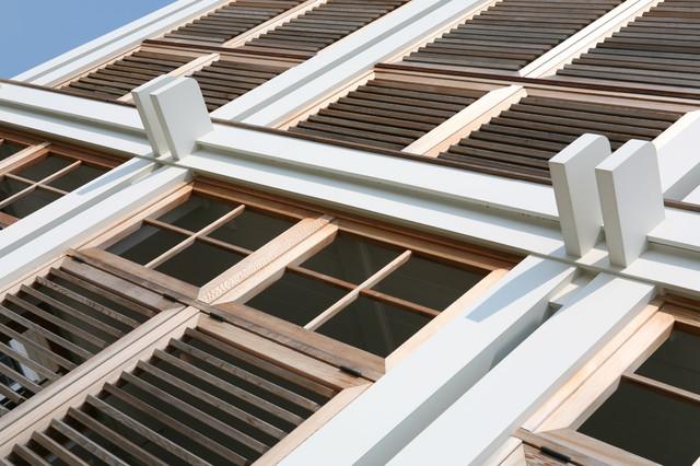 现代简约风格卧室三层连体别墅舒适卧室窗户效果图