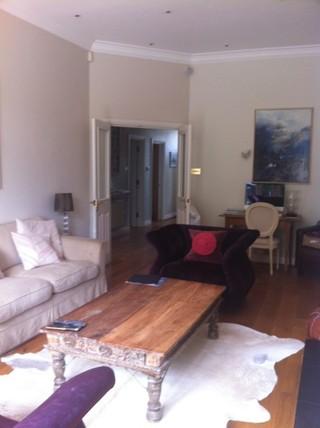 中式风格别墅三层小别墅实用卧室客厅茶几地毯效果图