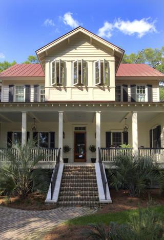 美式风格三层别墅及时尚家居装饰入户花园鞋柜设计