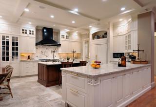 现代欧式风格一层半小别墅小清新整体厨房装修效果图