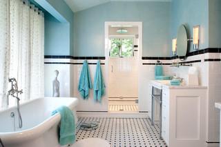 美式风格客厅一层别墅及实用客厅蓝色装修效果图