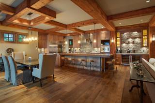 美式乡村风格卧室三层别墅浪漫婚房布置中式餐厅装修效果图