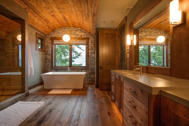 美式别墅客厅乡村一层半卧室a别墅风格卫生间隔断装潢花园别墅明德图片