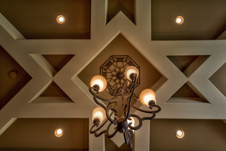 现代美式风格300平别墅豪华房子最新水晶灯图片