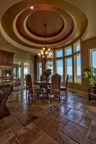 美式风格三层双拼别墅豪华厨房厨房与餐厅隔断效果图