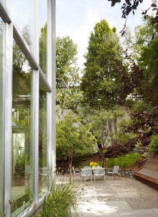 现代简约风格卧室三层平顶别墅舒适露台花园改造