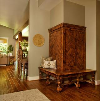 现代美式风格三层平顶别墅简单温馨转角沙发效果图