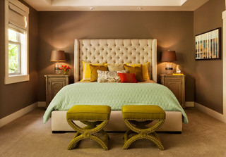 美式风格200平米别墅卧室温馨宜家椅子图片
