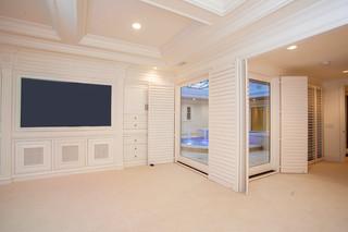 欧式风格家具2层别墅大气家庭影音室装潢