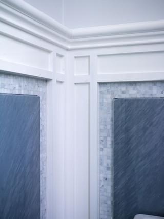 现代简约风格厨房一层半小别墅艺术大理石背景墙装修效果图