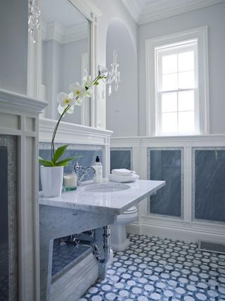 现代简约风格3层别墅艺术家具洗手台效果图
