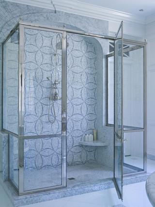 现代简约风格一层别墅艺术整体淋浴房安装图