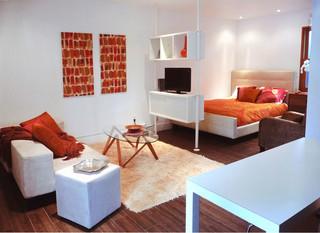 宜家风格客厅三层别墅及小清新时尚简约客厅改造