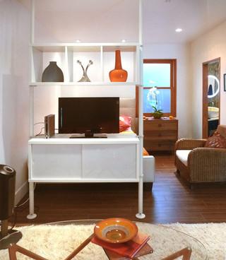 宜家风格三层平顶别墅小清新家庭影音室装潢