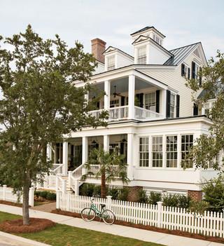 地中海风格卧室三层连体别墅唯美别墅庭院装修效果图