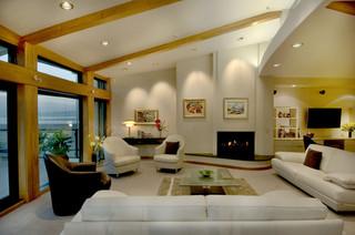 现代欧式风格三层双拼别墅豪华房子2013现代客厅装修