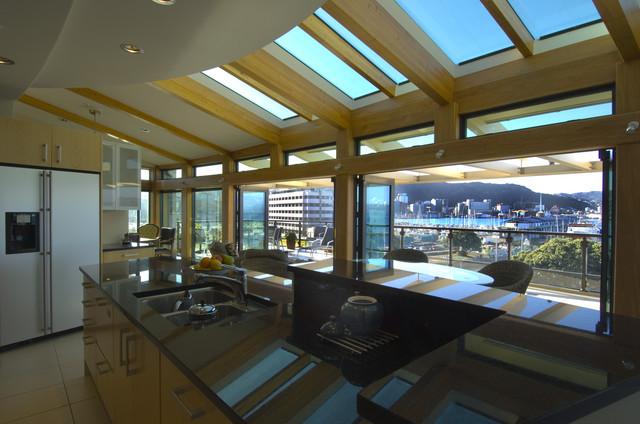 现代欧式风格三层别墅浪漫卧室阳光房屋顶效果图图片