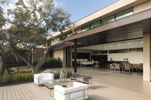 美式风格卧室一层半别墅豪华空中花园装修效果图