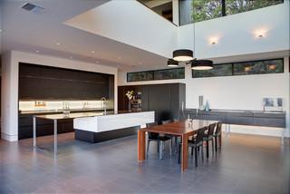 美式风格三层半别墅豪华室内开放式厨房餐厅装修效果图