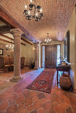 美式风格客厅三层别墅及浪漫卧室别墅玄关装修效果图