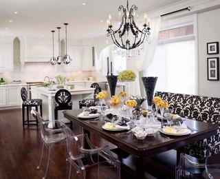 新古典风格卧室一层半小别墅大气红木家具餐桌图片