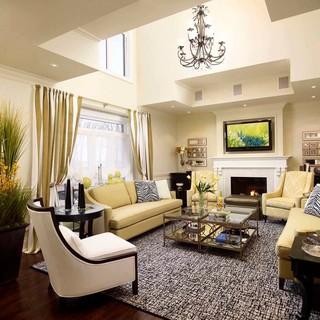 新古典风格卧室3层别墅大气豪华欧式客厅装潢
