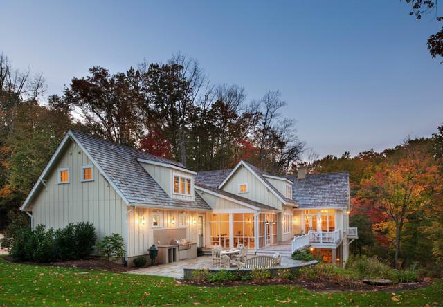 现代美式风格三层半别墅小清新家庭小花园装修图片