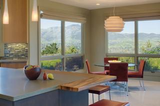 美式风格三层连体别墅大气吊顶餐厅装修效果图