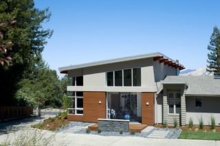现代美式风格一层半别墅大气庭院围墙设计图纸