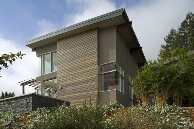 美式风格卧室三层连体别墅大气花园设计图