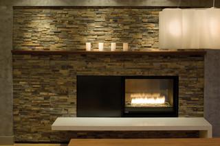 美式风格三层独栋别墅大气马赛克背景墙设计图