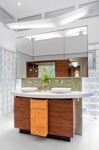 美式风格客厅一层别墅及唯美主卫改衣帽间装修