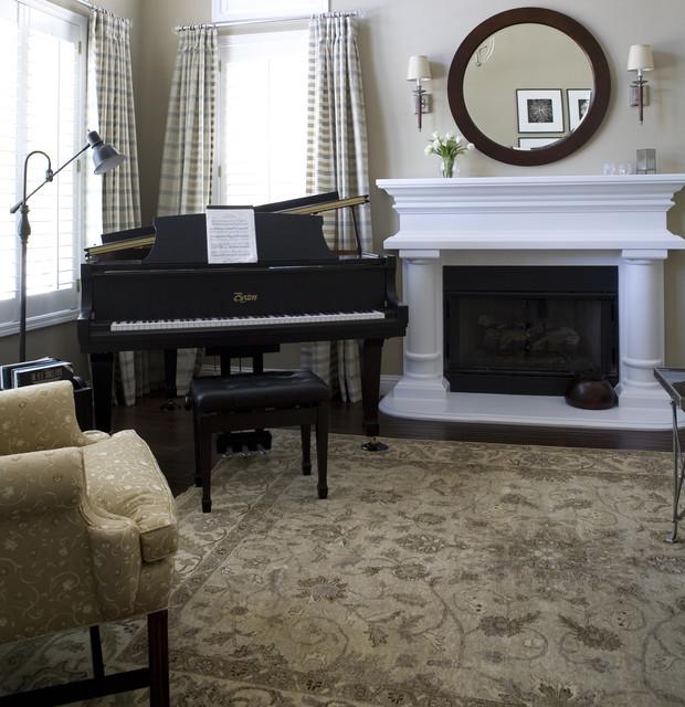美式风格卧室3层别墅大气红地毯效果图