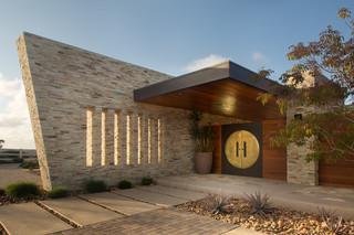 美式风格3层别墅唯美入户门厅装修