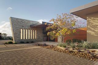 美式风格一层别墅及唯美入户花园鞋柜设计
