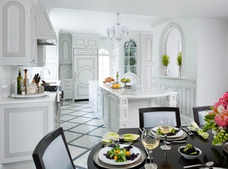 现代简约风格餐厅三层独栋别墅唯美2012家装厨房装修图片