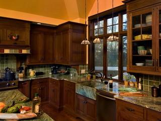 美式乡村风格卧室三层别墅温馨装饰整体厨房效果图