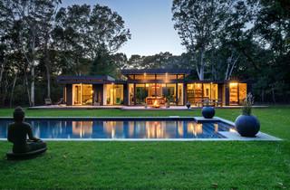 美式风格客厅2层别墅浪漫卧室别墅游泳池装修