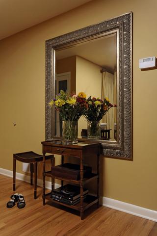 简约中式风格三层连体别墅温馨室内植物图片