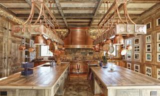 田园风格整套2013别墅及浪漫婚房布置实木餐桌图片