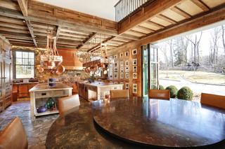 田园风格玄关一层半别墅浪漫婚房布置大理石餐桌图片