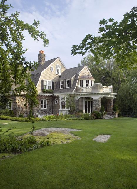 美式风格客厅一层别墅及舒适空中花园设计图