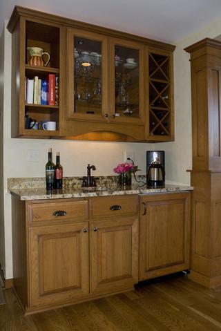 现代田园风格3层别墅温馨装饰室内装修酒柜效果图