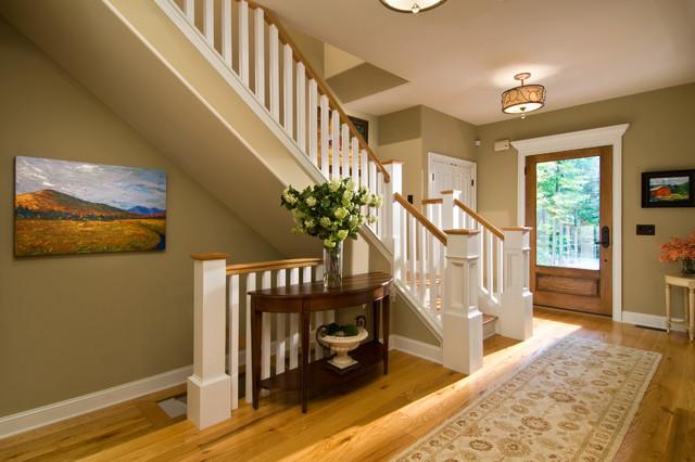 宜家风格客厅三层连体别墅浪漫婚房布置门厅玄关设计图