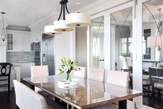 欧式风格客厅三层半别墅豪华厨房餐桌桌布效果图