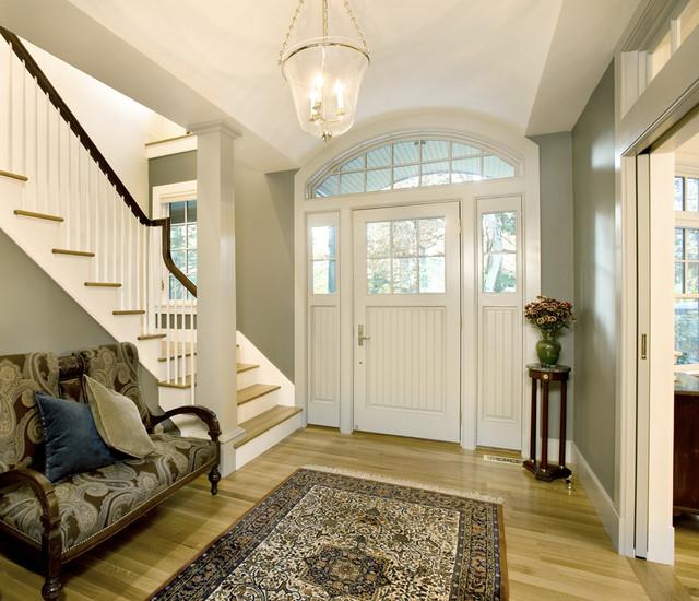 现代简约风格三层半别墅唯美入户玄关装修效果图