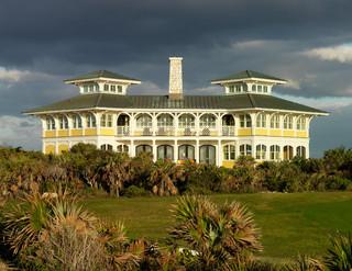 美式风格客厅三层平顶别墅另类卧室花园阳台装修效果图