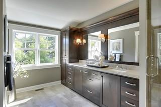 美式风格客厅一层半小别墅唯美品牌浴室柜效果图
