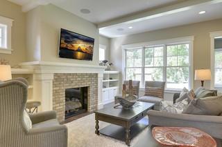 现代美式风格三层别墅唯美2013家装客厅效果图